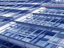 Fachada de um edifício moderno do departamento Foto de Stock Royalty Free