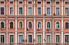 Fachada de uma casa. Arquitetura velha. Fotografia de Stock Royalty Free