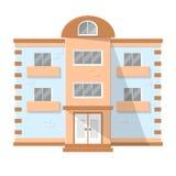 Fachada de uma casa de moradia ilustração do vetor