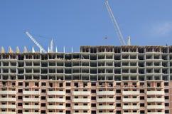 Fachada de uma casa de painel sob a construção Foto de Stock Royalty Free