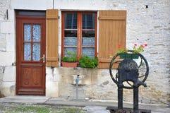 Fachada de uma casa velha Imagem de Stock