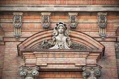 Fachada de uma construção antiga Imagens de Stock