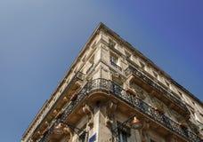 Fachada de uma construção antiga no centro do Bordéus Imagem de Stock