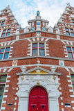 Fachada de uma construção histórica em Hoorn, Países Baixos Fotografia de Stock Royalty Free