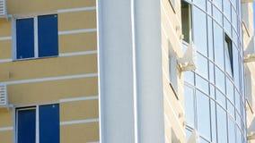 Fachada de uma construção moderna nova Fotos de Stock