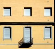 Fachada de uma construção residencial Fotografia de Stock