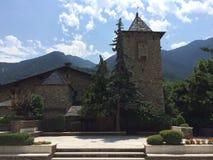 Fachada de uma igreja de pedra imagens de stock royalty free