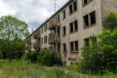 Fachada de un edificio abandonado Fotografía de archivo libre de regalías
