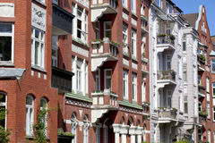 Fachada de un edificio de Nouveau del arte Foto de archivo libre de regalías