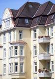 Fachada de un edificio de Nouveau del arte Fotografía de archivo libre de regalías