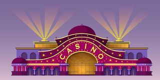 Fachada de un edificio del casino imagen de archivo