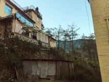 Fachada de un edificio del edificio en Yuanyang Imagen de archivo libre de regalías