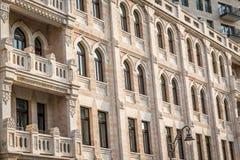 Fachada de un edificio en Israel, Jerusalén Imágenes de archivo libres de regalías