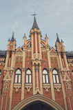 Fachada de un edificio hermoso con las torres kiev Imágenes de archivo libres de regalías