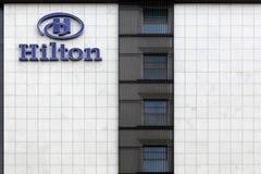 Fachada de un Hilton Hotel Imagen de archivo libre de regalías