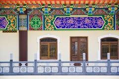 Fachada de un templo chino Fotografía de archivo libre de regalías