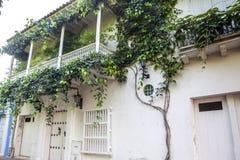 Fachada de una casa colonial Foto de archivo libre de regalías