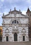 Fachada de Veneza Chiesa Di San Moise fotografia de stock