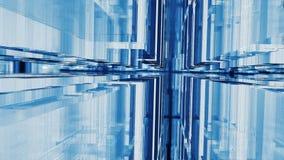Fachada de vidro geométrica ilustração do vetor