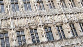 Fachada decorativa del edificio Foto de archivo libre de regalías