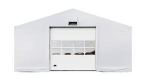 Fachada del almacén de almacenamiento aislada Imagen de archivo