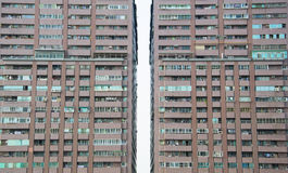 Fachada del bloque de apartamentos Fotografía de archivo
