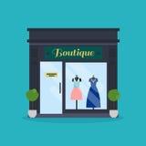 Fachada del boutique de la moda Tienda de ropa Ideal para el negocio del mercado Foto de archivo