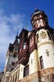 Fachada del castillo de Peles Fotografía de archivo
