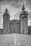 Fachada del castillo de Vallo foto de archivo libre de regalías