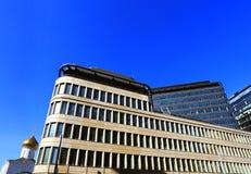 Fachada del edificio de alta tecnología del estilo Fotos de archivo libres de regalías
