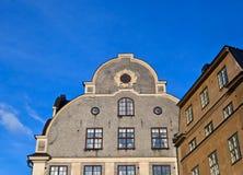 Fachada del edificio de Estocolmo Foto de archivo
