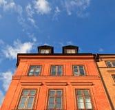 Fachada del edificio de Estocolmo Fotografía de archivo