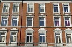 Fachada del edificio de Nouveau del arte Foto de archivo