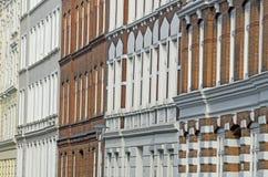 Fachada del edificio de Nouveau del arte Imagen de archivo libre de regalías