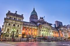 Fachada del edificio del congreso nacional de la Argentina Imagen de archivo libre de regalías