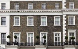 Fachada del edificio en Londres Foto de archivo libre de regalías