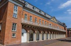 Fachada del edificio histórico de Marstall en Aurich Foto de archivo