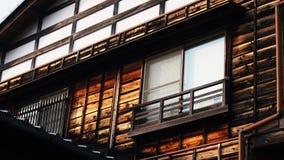 Fachada del edificio japonés del vintage Foto de archivo