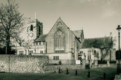 Fachada del este del norte de la iglesia de monasterio de Sunderland Foto de archivo