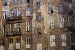 Fachada del ghetto de Varsovia, Varsovia, Polonia fotos de archivo