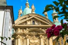 Fachada del mausoleo de Franz Ferdinand II en Graz, Estiria, Austria imagenes de archivo