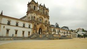Fachada del monasterio de Alcobaca almacen de video