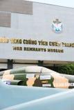 Fachada del museo los remanente de la guerra, Saigon Foto de archivo