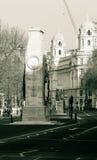 Fachada del norte del monumento de guerra del cenotafio Whitehall Londres Imágenes de archivo libres de regalías