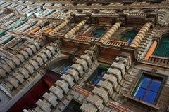 Fachada del palacio de Milano Imagenes de archivo