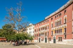 Fachada del palacio Soranzo en el polo de Campo San Imagen de archivo libre de regalías