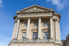 Fachada del palacio Versalles cerca de París, Francia Imágenes de archivo libres de regalías