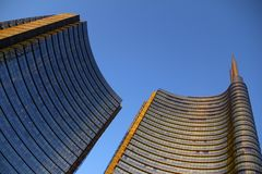 Fachada del rascacielos Edificios de Berlin Imagen de archivo