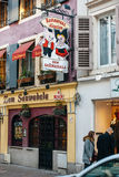 Fachada del restaurante del restaurante de Alsacian Fotos de archivo libres de regalías