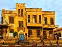 Fachada del teléfono viejo Aviv Israel de la casa Imagen de archivo libre de regalías